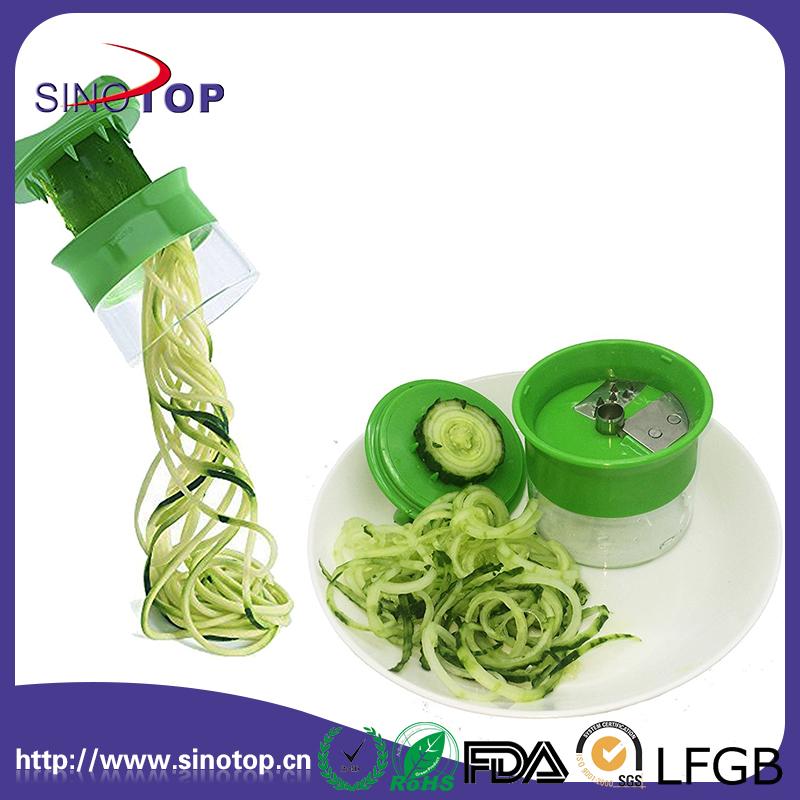 Handheld Spiralizer Slicer Noodles Zucchini Spaghetti Pasta Maker Vegetable Grips Cutter Slicer Food Fruit Spiral Veggie Slicer
