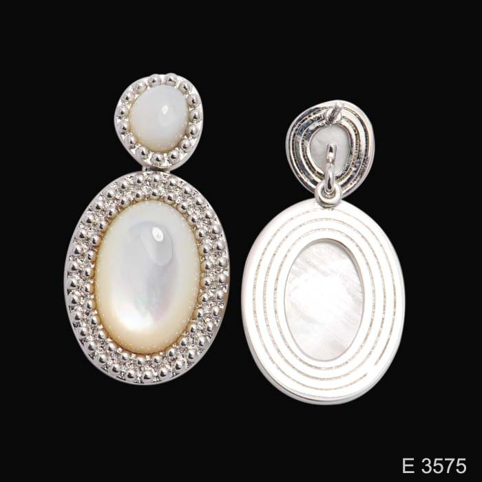 925 Sterling silver new design with white shell earring fashion earring