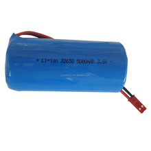 32650 3.7V 5000mAh rechargeable li-ion cylindrical battery with JST 2P connector