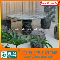 Green Marble Yard Table & Chairs