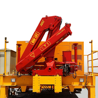 hot-selling 5 ton knuckle boom truck mounted crane