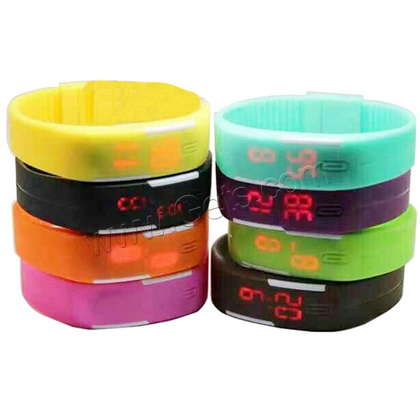 Fasion Cheap silicone rubber colorful led watch digital with high quality