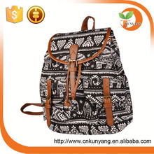 china wholesale ladies retro girls waterproof laptop owl oil cloth canvas high school backpack for school