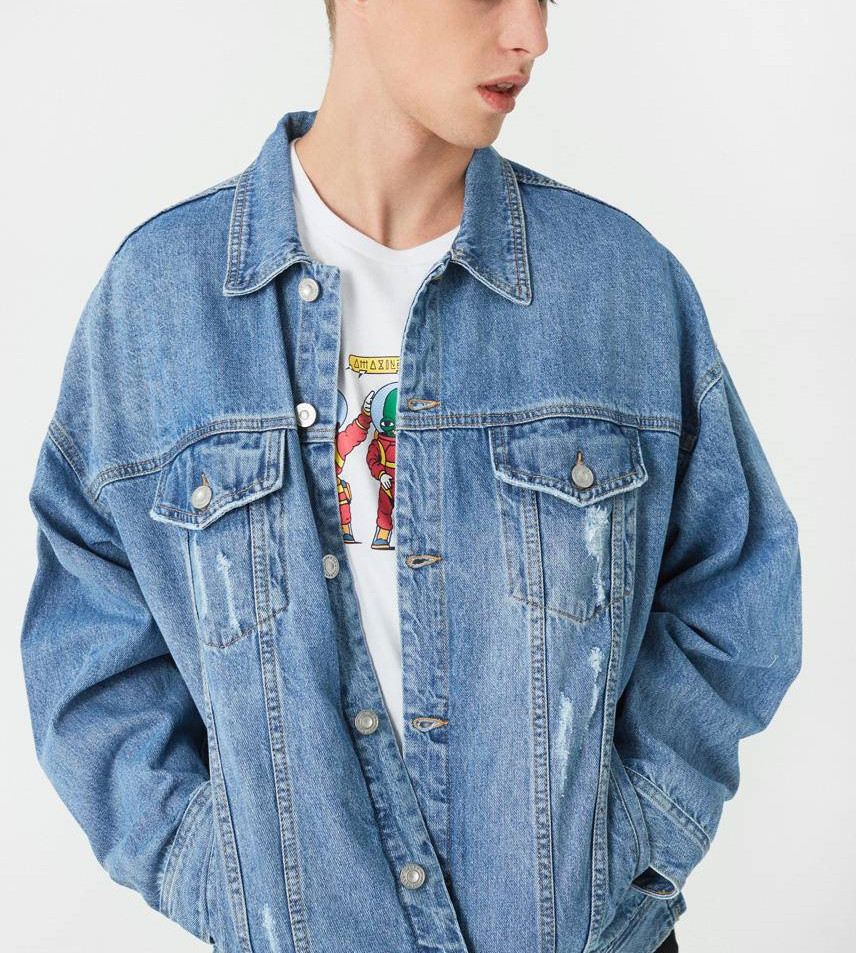 clothes 2019 design fashion broke <strong>hole</strong> men washed jeans <strong>fabric</strong> jacket