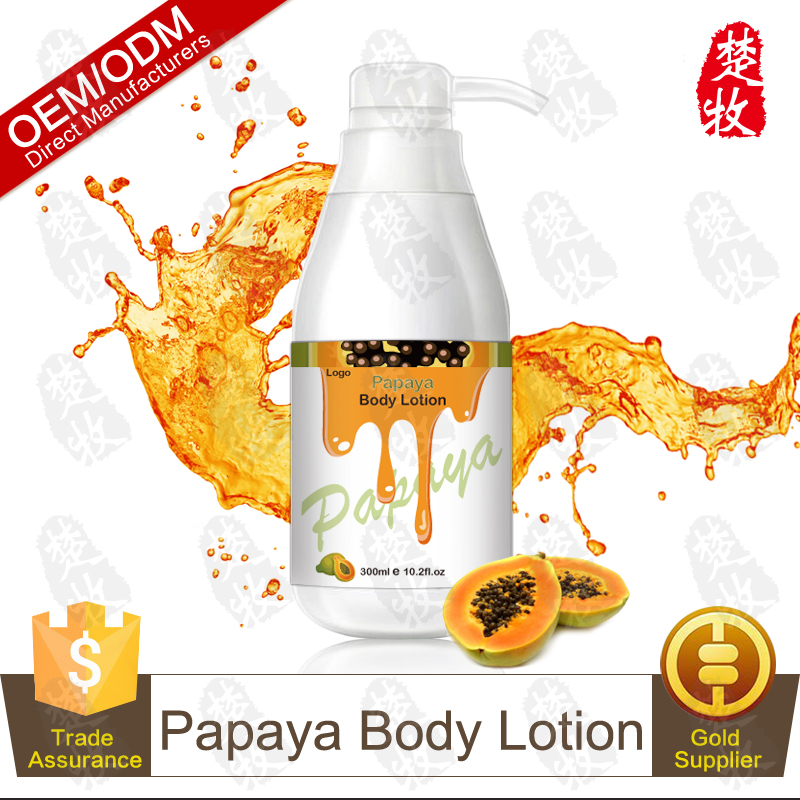 Hot Sale Personal Care Papaya Moisturizing and Whitening Body Lotion Cosmetic OEM/ODM Professional Supplier