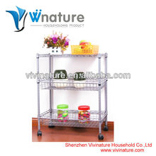 3 layer stainless steel kitchen shelf