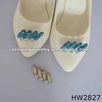 glitter rhinestone with blue resin beads shoe buckle for 2012 women summer shoes