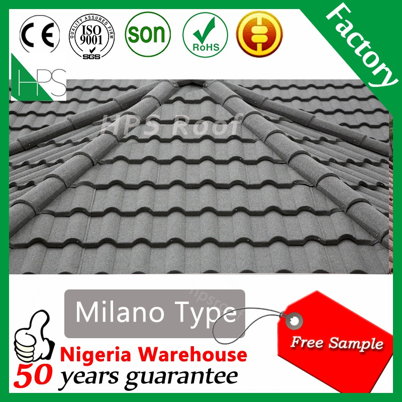 Free sample Japanese roof tile kerala stone coated metal roof tile for sale