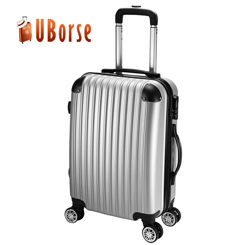 20'' hard case <strong>abs</strong> carry on cabin travel trolley luggage