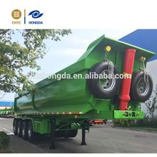 7cx-6t hydraulic dump 6 ton trailer 13-wheels dump trailer widely used in Kenya