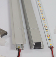 recessed under shelf LED strips, recessed installation,original Korean LG 5630 SMD LEDs, CRI>80, 24VDC, 60 LED/M,1800 lumen,21W