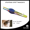 Special stainless steel/ effective beauty girl eyebrow tweezer