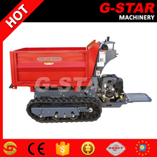 BY1000 construction equipments rated 1ton hydraulic transmission mini dumper price