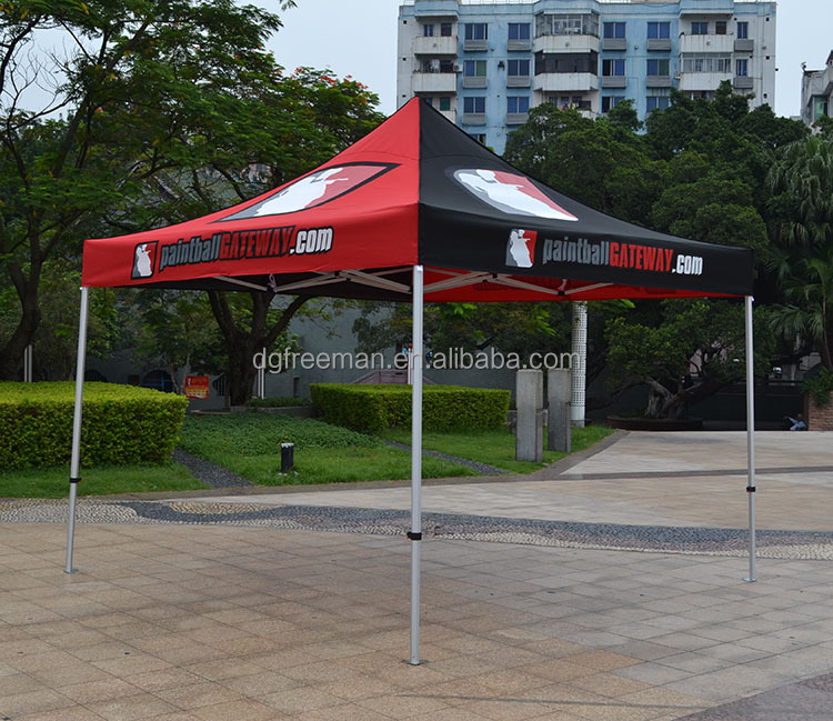 Portable custom made hot sale outdoor silk screen printing advertising folding tent