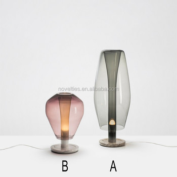 Artist design marble base glass E27 Contemporary Table Lamp with CE