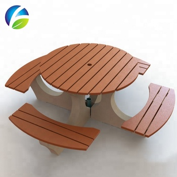 Recycled Plastic Wood Best Selling Used Outdoor Table of Wood Picnic Table