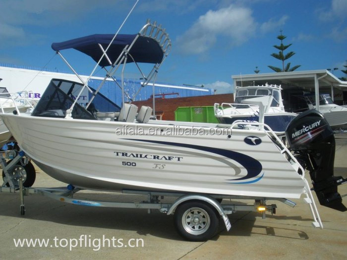 TCB affordable aluminum fishing sport motor yacht for sale(Presentation a fishing rod, tea, teapot)