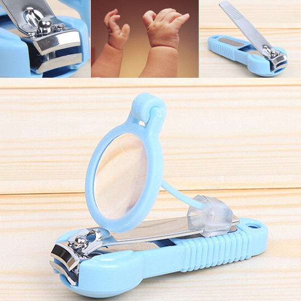 Baby and old man magnifying glass nail clipper/plastic nail clipper #323