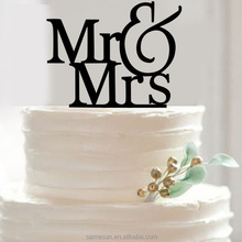 Acrylic initial Mr&Mrs engagement wedding love cake topper