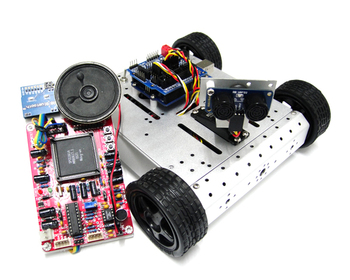 4WD Mobile Robot Kit with Voice Recognition System Educational Robot Electronic Tracked Robot