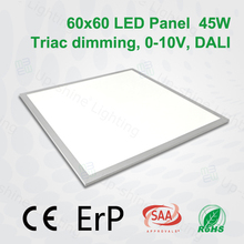 White or silver frame 33w 36w 42w 45w 56w 72w dimmable square LED suspended ceiling lighting panel 600x600 300x1200 600 x1200