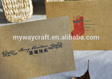 Colorful printed animated vintage kraft paper merry christmas greeting cards