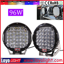 LOYO 96W LED work light stop/ flood beam for jeep extra lamp 12v 24v 4x4 cars accessories