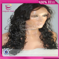 Alibaba online wholesale 18 inch glueless full lace wig curly wig for black women