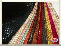 100%polyester popular snake skin pattern printed bronzed suede fabric bonded with different cotton fabric