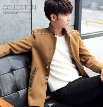 25Gentlemen's long sleeve BUTTON thickens maintains warmth jacket for WINTER season,fom Guangzhou