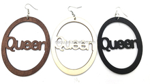 Latest Queen Wood Earrings For Girls