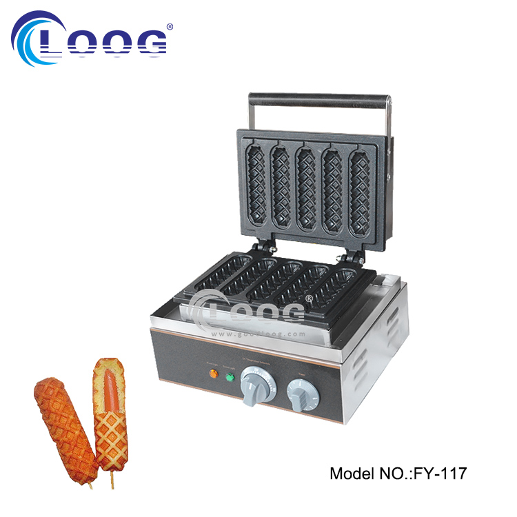 Stainless steel commerical waffle hot dog maker crispy <strong>corn</strong> stick cake machine