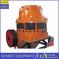 Portable cone crusher dust seal , rock crush plant for sale