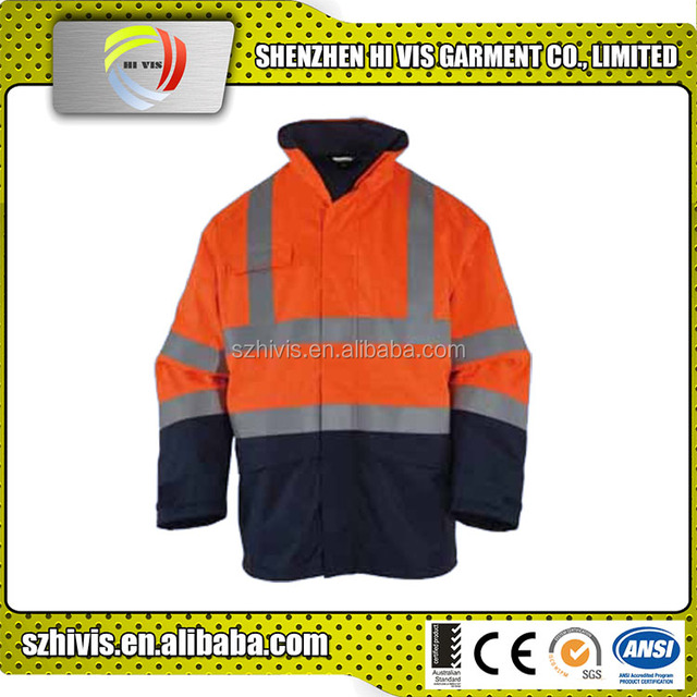 Warning Reflective Safety Brand Clothes Work Uniform Jacket Winter