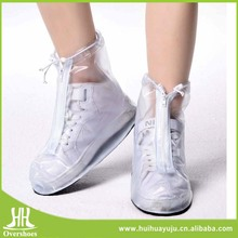 Hot sale pvc transparent middle upper rain boots covers with XXXL