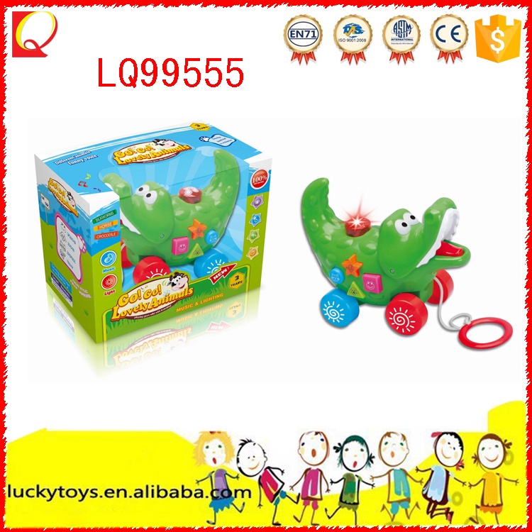 Lovely animal toy B/o crocodile kids toy with light and music
