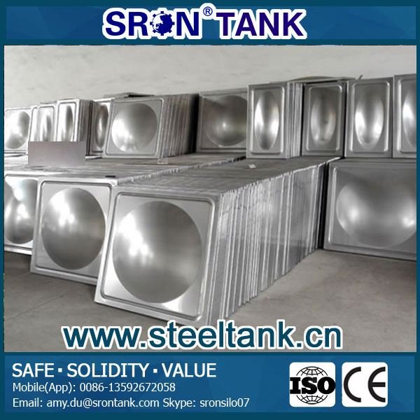 SRON Portable Stainless Steel Square Water Storage Tanks