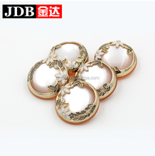 fancy large size resin buttons for women fur coats gold color