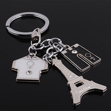 Zinc alloy custom shaped metal key hoder key chain