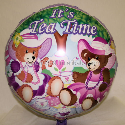 Teddy Bear Tea Party Mylar Balloons, 1 pc(s)
