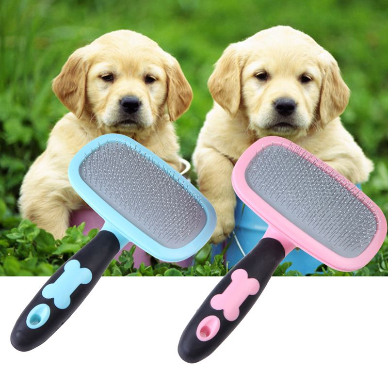 Pet Dog Cat Hair Brush Rotatable functional Massage Fur Trimmer Comb Grooming Tool Grip Handle Shedding