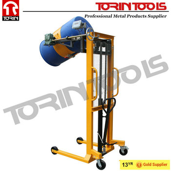 CE Certificate Industrial Nylon Wheel Manual Hydraulic Drum Lifter