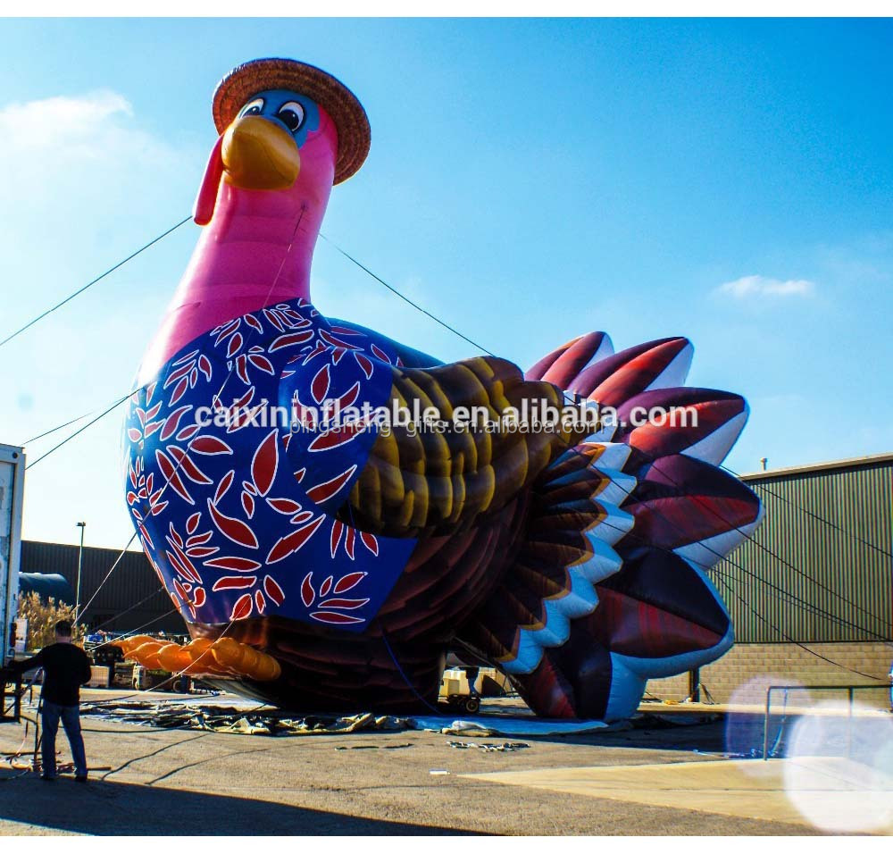 Customized large inflatable turkey, inflatable giant advertising turkey, PVC inflatable turkey balloon