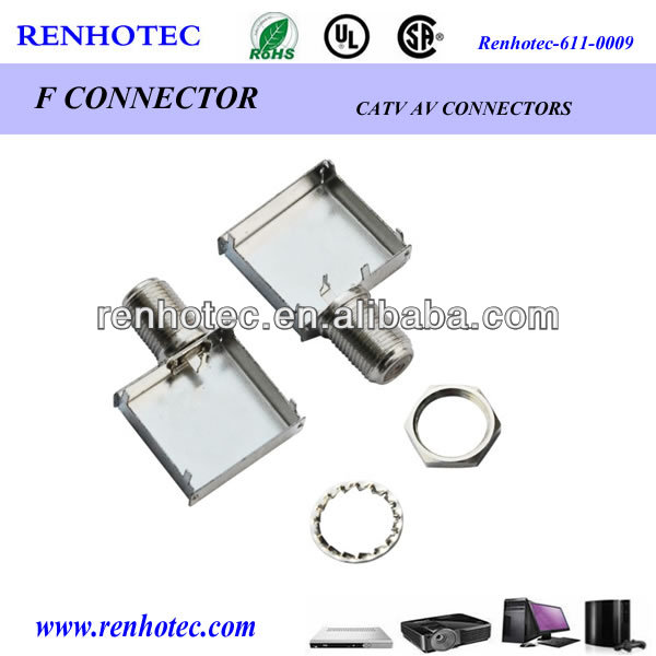 panel mount f connector f female connector solder type
