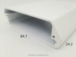 Customed aluminum extrusion profile aluminum boxes 84.7*24.2-100 Length Aluminum box/Aluminum Extrusion Box