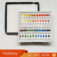 Certificate 24 colors 12ml oil paint sets painting oil color tubes for sale