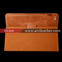 Iface case for ipad mini genuine cowhide leather case for ipad mini case with stand-up feature