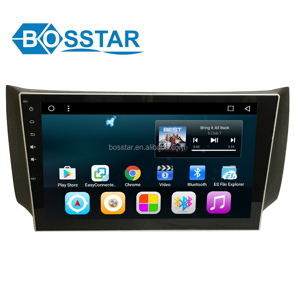 Bosstar android car av entertainment gps navigation system for sylphy 2012-2014 with car bluetooth, wifi , full touch screen