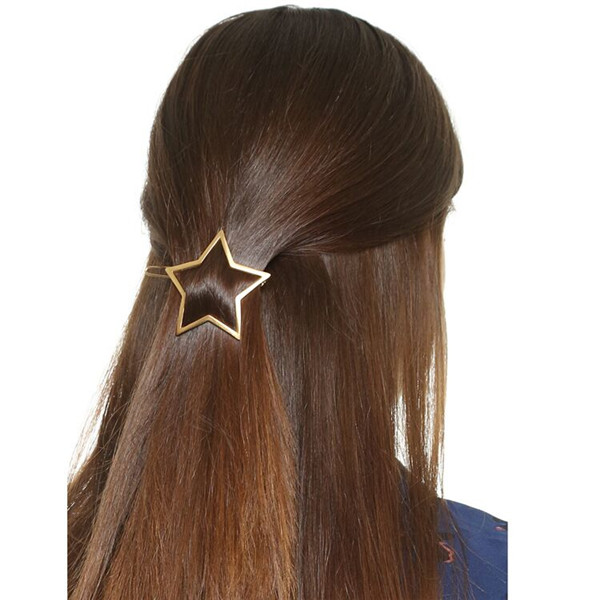 Europe Headwear Geometry Hair Pin Star Shape Hair clip For Girls