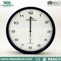 13 inch Basic plastic radio controlled wall clock,decoration office wall clock China